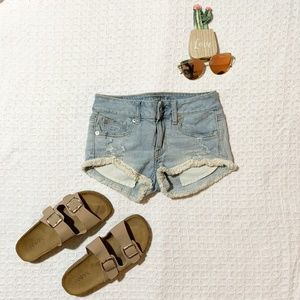 American Eagle Outfitters Blue Stretch Shorts 00